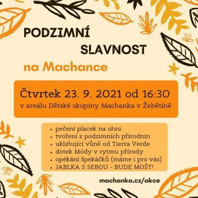 Pozvánka na podzimní slavnost na Machance 2021